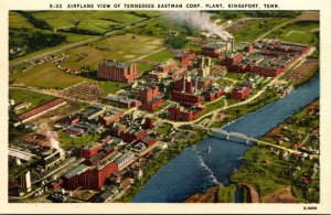 Tennessee Kingsport Airplane View Of Tennessee Eastman Corporation Plant