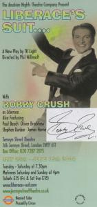 Bobby Crush Liberace Liberaces Suit Jermyn Street Hand Signed Theatre Flyer