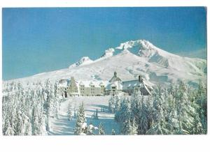 Timber Line Lodge and Mount Hood in Snow Oregon