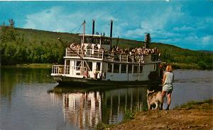 River Boat Discovery on the Chena River Fairbanks Alaska AK Chrome