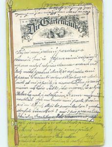 1900 Advertising DIE GARTENLAUBE - FIRST GERMAN NEWSPAPER Germany hJ6640