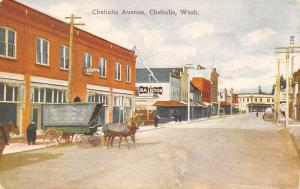 Chehalis Washington~Avenue~Johnson Transfer Co Wagon~Saindon Confectionery~1908