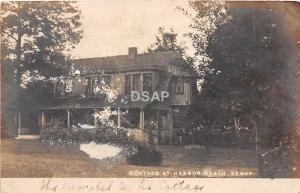 C5/ Harbor Beach Resort Michigan Mi Real Photo RPPC Postcard c1910 Cottage