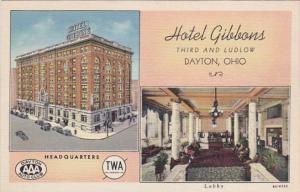 Ohio Dayton Hotel Gibbons Curteich