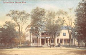 Foxboro Massachusetts Cocasset House Street View Antique Postcard K45684