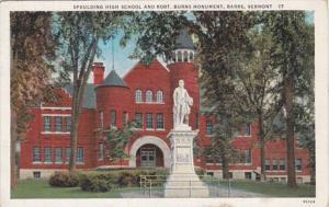 Vermont Barre Spaulding High School and Robert Burns Monument Curteich