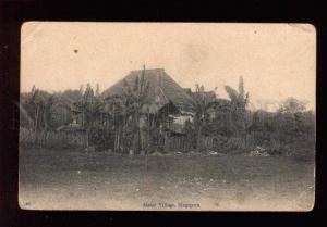 034199 SINGAPORE Malay village view Vintage PC