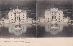 Stereoscope Postcard ; Deutschland.-Die bayr. Schlosser-Linderhof , 00-10s