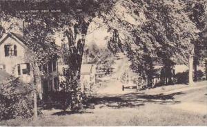 Maine Sebec Main Street Albertype