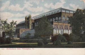 Pennsylvania Philadelphia The Horticultural Hall 1908