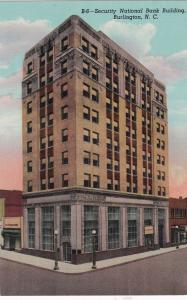 BURLINGTON, North Carolina, 30-40s; Security National Bank Building