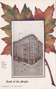 King Edward Hotel, Samuel May & Co. ADV On The Back, Toronto, Ontario, Canada...