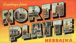 North Platte, Nebraska Large Letter Town Towns Post Cards Postcards  North Pl...