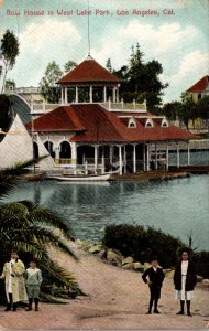 California Los Angeles West Lake Park Boat House 1909