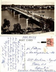 iraq, BAGHDAD BAGDAD, King Faisal II Bridge (1960) RPPC Postcard Stamp