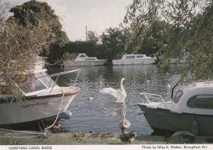 Garstang Canal Basin Sailing Yachts Lancashire Vintage Postcard