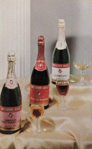 ADV:  MELODY HILL California Wines & Champagne , 50-60s