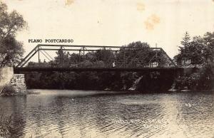 ROCKFORD,IOWA SHELL ROCK BRIDGE-1915 RPPC REAL PHOTO POSTCARD