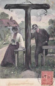 Letter T, Couple, PU-1906
