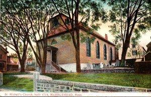 Massachusetts Marblehead St Michall's Church Built 1714