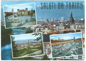 Italy, SALUTI DA TORINO, used Postcard