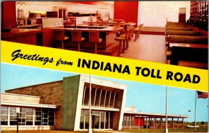 Indiana IN Toll Road Greetings Postcard Old Vintage Card View UNPOSTED POSTCARD