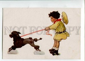 3105699 POODLE Girl ROLLERS by Bessie Pease GUTMANN old Russia