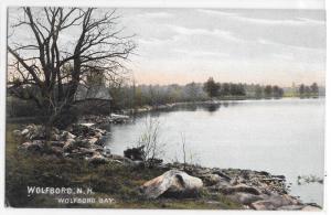 Wolfboro NH New Hampshire Wolfboro Bay 1907 Lakeport Postmark Postcard