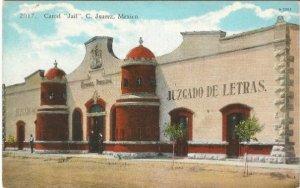 Curt Teich Vintage Postcard, Carcel Jail C Juarez Mexico Circa 1915