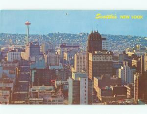 Postcards Aerial Seattle Space Needle CA # 752A