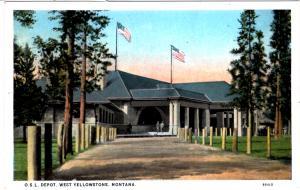EAGLE, OhIo Short Line Depot, West Yellowstone
