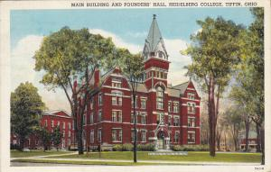 Main Building And Founders' Hall, Heidelberg College, TIFFIN, Ohio, PU-1948