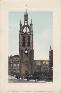 NEWCASTLE ON TYNE, England, 1900-1910's; St. Nicholas' Cathedral