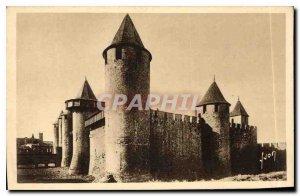 Old Postcard La Cite in Carcassonne Le Chateau