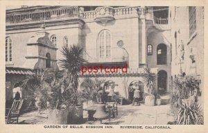 1925 RIVERSIDE CA Garden of Bells Mission Inn, to Mrs W.H. Gustin in Cleveland