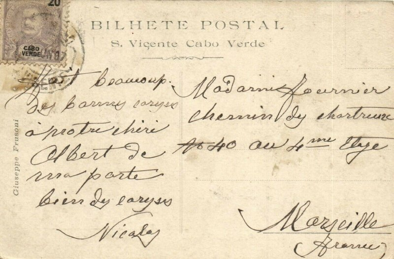PC CPA CABO VERDE CAPE VERDE S. VICENTE MERGULHADORES Vintage Postcard (b26730)