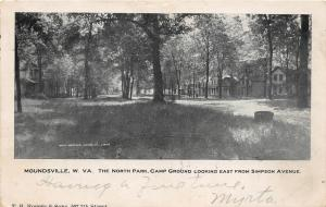 F23 Moundsville West Virginia Postcard Camp Ground c1910 North Cottages 21