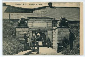 Soldiers Citadel Entrance Halifax Nova Scotia Canada 1908 postcard