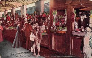 E41/ Black Americana Postcard c1910 Charleston South Carolina Old Market 12