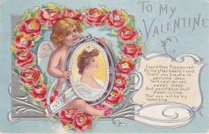 VALENTINE´S DAY ; Cherub ; Send these Poppies red... , PU-1909