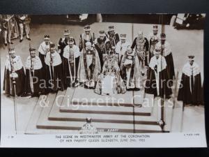 Tuck RP Queen Elizabeth ll Coronation CROWNED & ON THRONE 2nd June 1953 C28