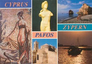 Post card Cyprus various aspects and sights
