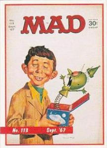 Lime Rock Trade Card Mad Magazine Cover Issue No 113 Sept 1967
