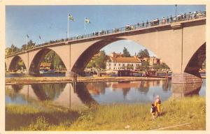 Sweden Old Vintage Antique Post Card Sverige Dalarna Leksand 1953