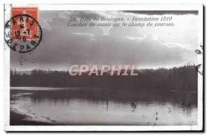 Old Postcard Bois de Boulogne Flood 1910 Sunset on the racetrack