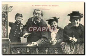 Old Postcard Fantasy humor the Durand family theater L & # 39enthousiasme