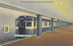 CHICAGO, Illinois, 30-40s; Train Station, Initial Subways