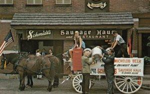 COLUMBUS, Ohio, 1940-60s; Schmidt's Sausage Haus Und Rstaurant, Horse & Carriage