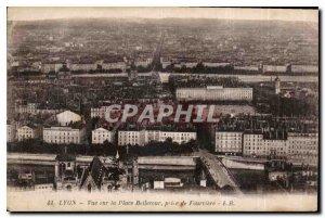 Postcard Old Lyon Bellecour Square vuela taking on Fourviere