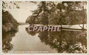 Modern Postcard The Abbey and River Burton on Trent
